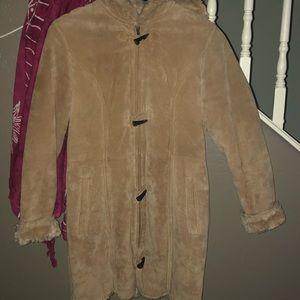 Wilson Leather Suede/faux Fur Coat